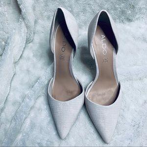 Aldo white snakeskin Heels 8.5